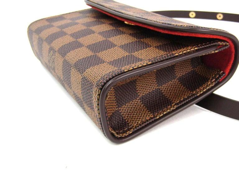 Louis Vuitton Brown Damier Men's Women's Fanny Pack Waist Bag For Sale 2