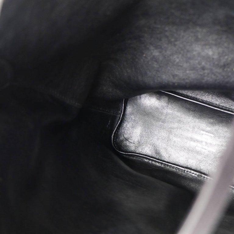 Louis Vuitton Black Navy Blue Sequin Evening Top Handle Satchel Shoulder Bag For Sale 4