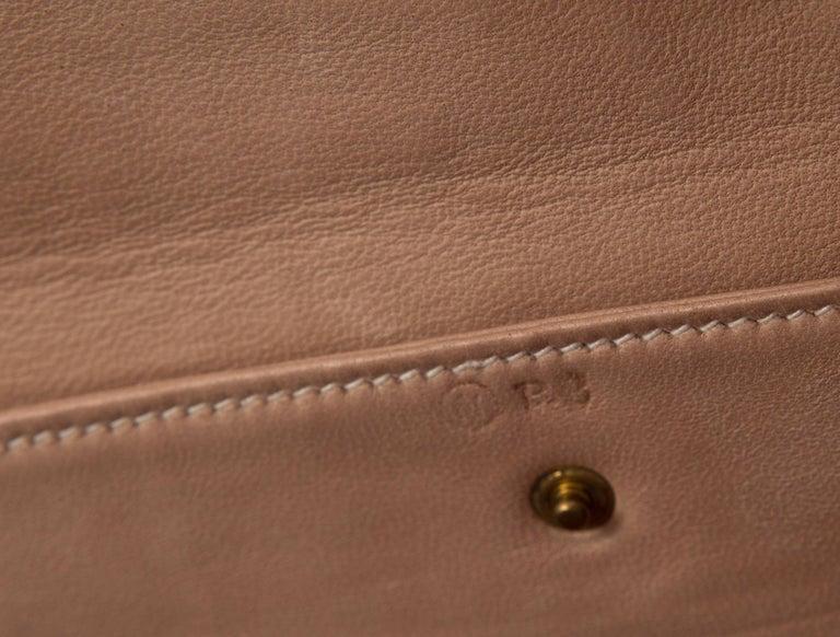 Women's Hermes Cognac Crocodile Exotic Leather Kelly Top Handle Shoulder Flap Bag For Sale