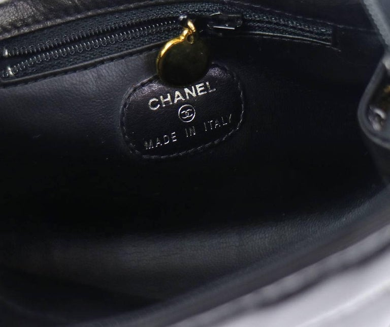 Chanel Black Patent Leather Party Crossbody Shoulder Bag W/Box For Sale 3