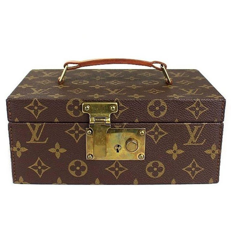 Louis Vuitton Monogram Top Handle Men's Jewelry Travel Storage Case With Keys