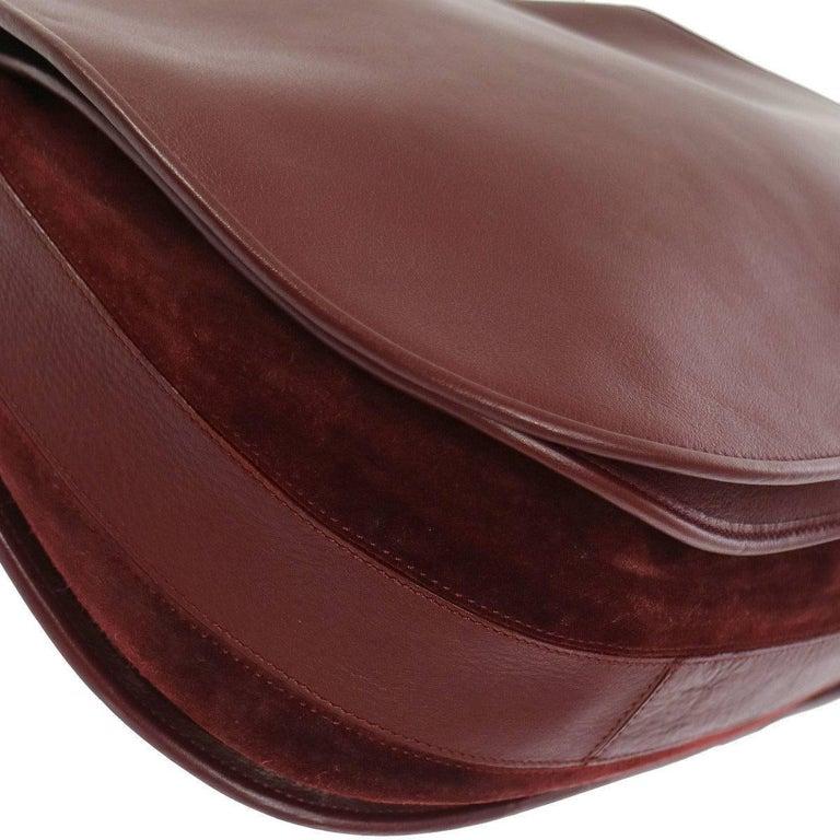 cartier leather bordeaux men 39 s women 39 s crossbody carryall shoulder bag with box at 1stdibs. Black Bedroom Furniture Sets. Home Design Ideas