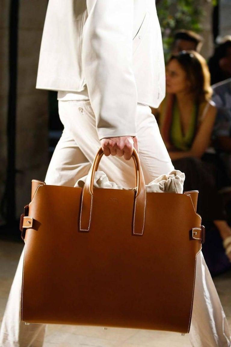 Hermes Runway Leather Cognac Men S Carryall Duffle Travel