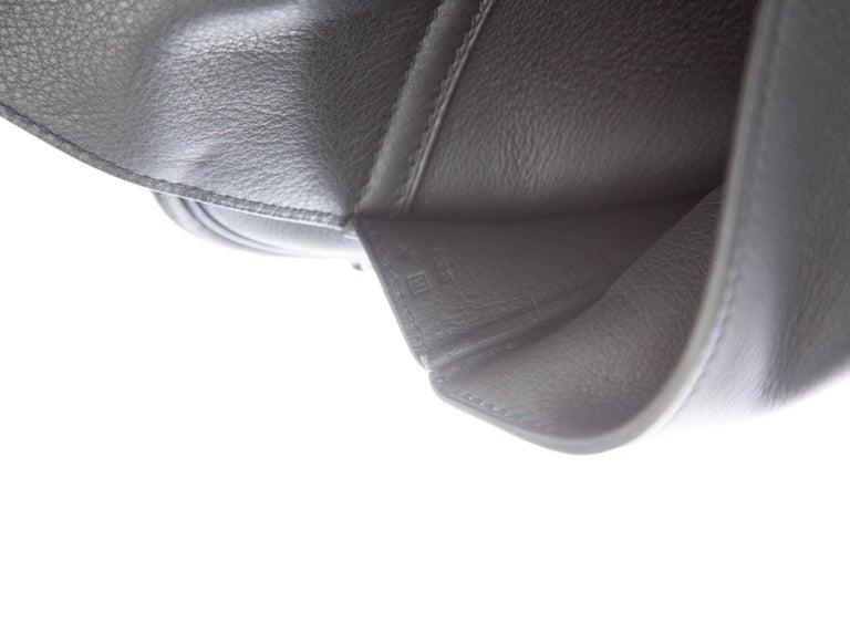 Hermes New Black Leather Men's Women's Top Handle Business Travel Shoulder Bag For Sale 2
