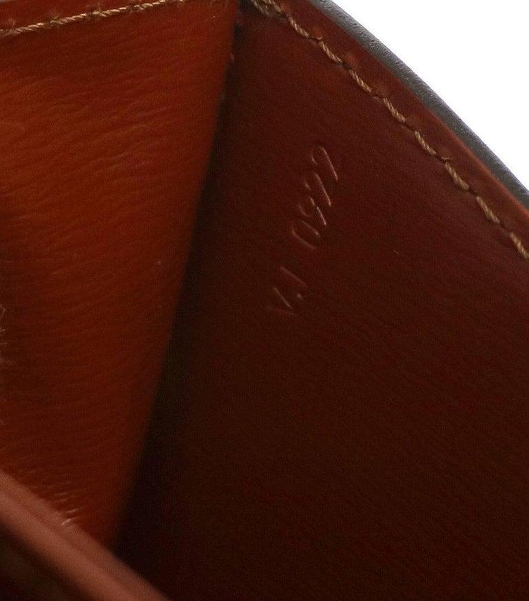 Louis Vuitton Cognac Leather Top Handle Satchel  Evening Shoulder Flap Bag In Excellent Condition For Sale In Chicago, IL