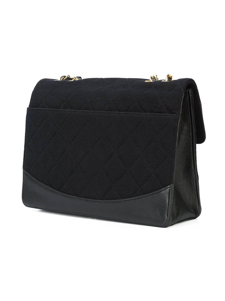 8f4cff841ea2ad Black Fabric Bag Strap. Chanel Black Leather Fabric Gold Evening Single  Double Strap Shoulder Flap Bag For Sale at 1stdibs