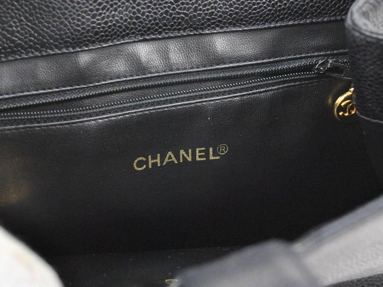 Chanel Black Leather Gold Charms Sling Back Carryall Duffle Shoulder Bag For Sale 2