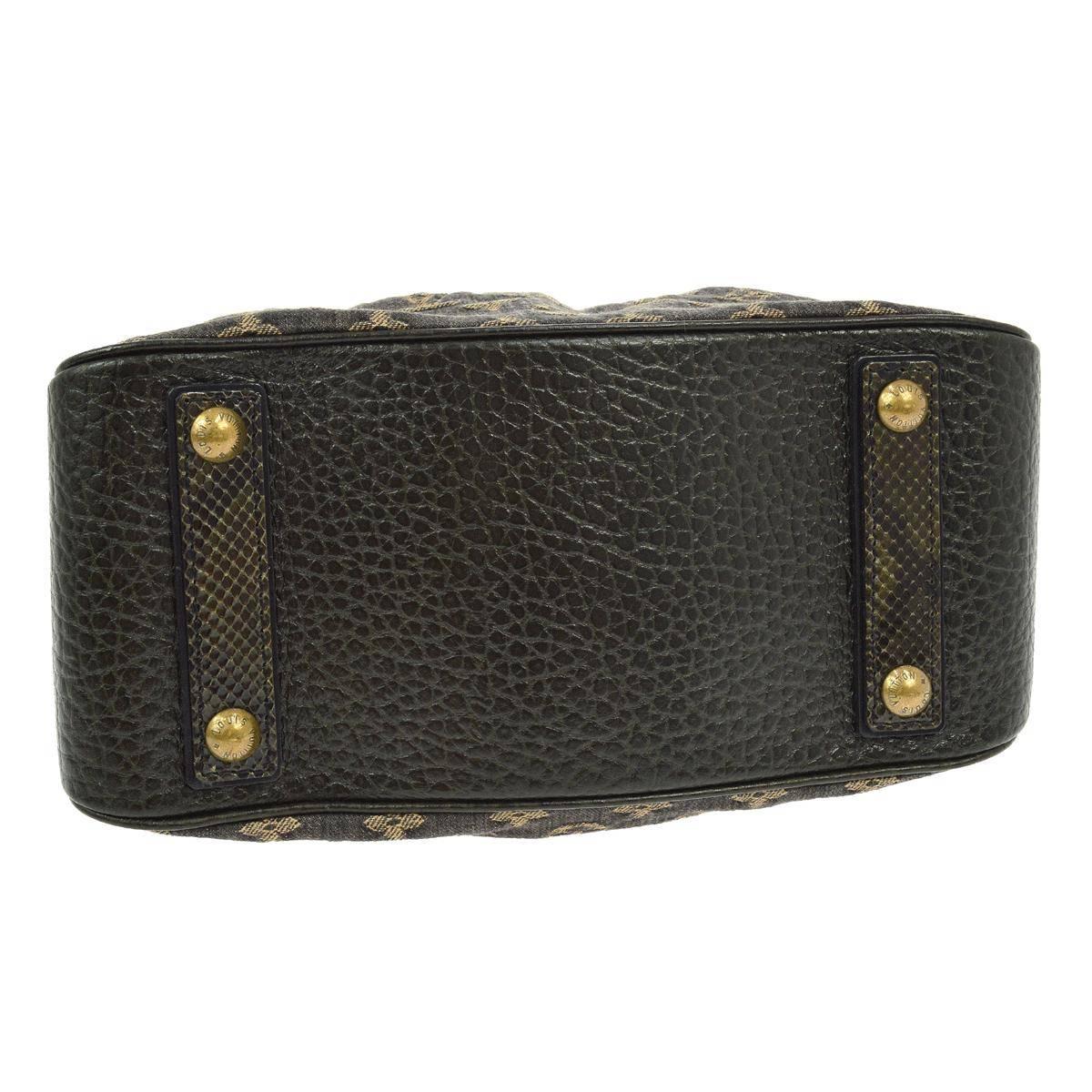 Louis Vuitton Limited Edition Brown Monogram Fur Top Handle Evening Satchel Bag y2N93k