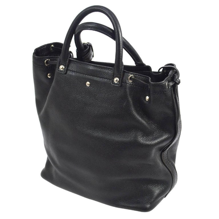 Louis Vuitton Black Leather Men's and Women's Carryall Travel Tote Bag In Good Condition In Chicago, IL
