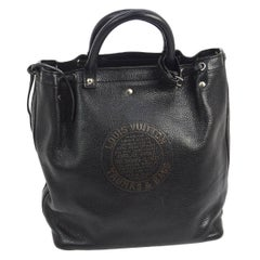 Louis Vuitton Black Leather Men's and Women's Carryall Travel Tote Bag