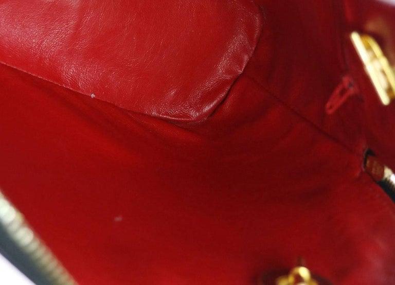 5fdc7426af981 Celine Schwarze Leder Gold Reißverschluss Kette Abend Umhängetasche ...