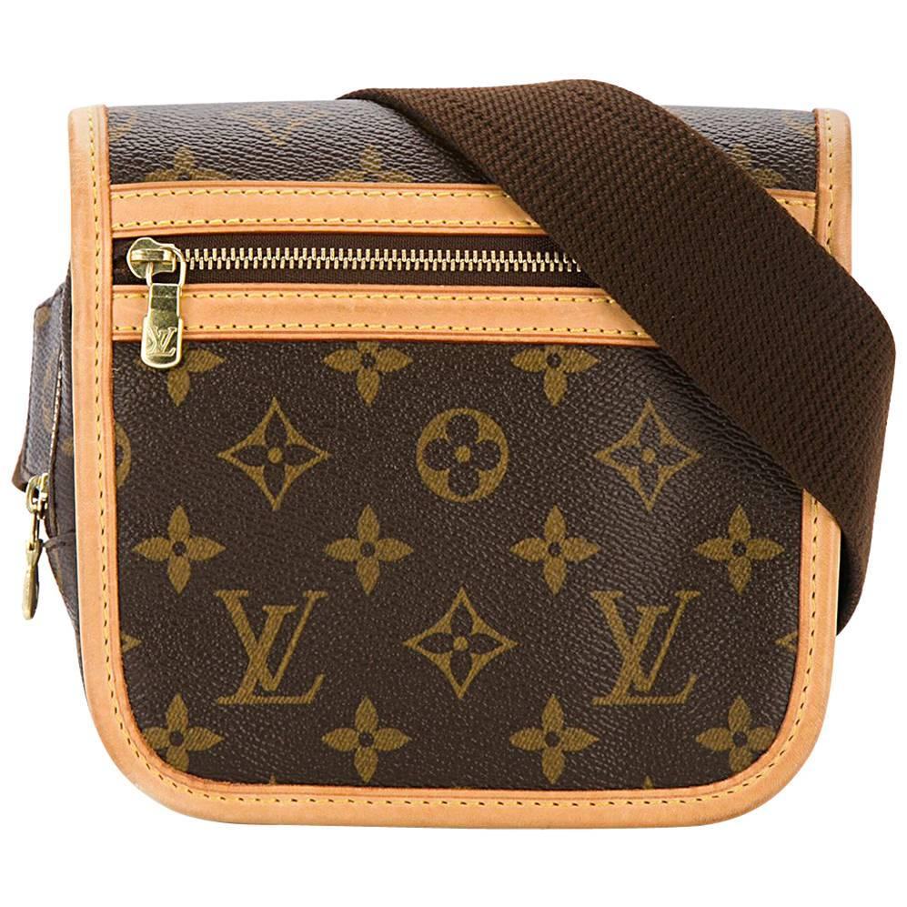 Louis Vuitton Monogram Crossbody Messenger Style Belt Flap Shoulder Bag Iha6n