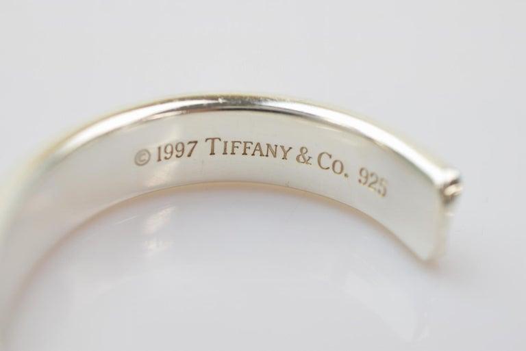 163a6e9d51ed0 Tiffany & Co Sterling Silver Logo Cuff Bangle Bracelet