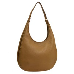 Hermes Tan Cognac Leather Carryall Hobo Shoulder Bag