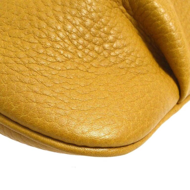 151851ce1a70 Women s Hermes Mustard Leather Hobo Style Shoulder Crossbody Saddle Bag For  Sale