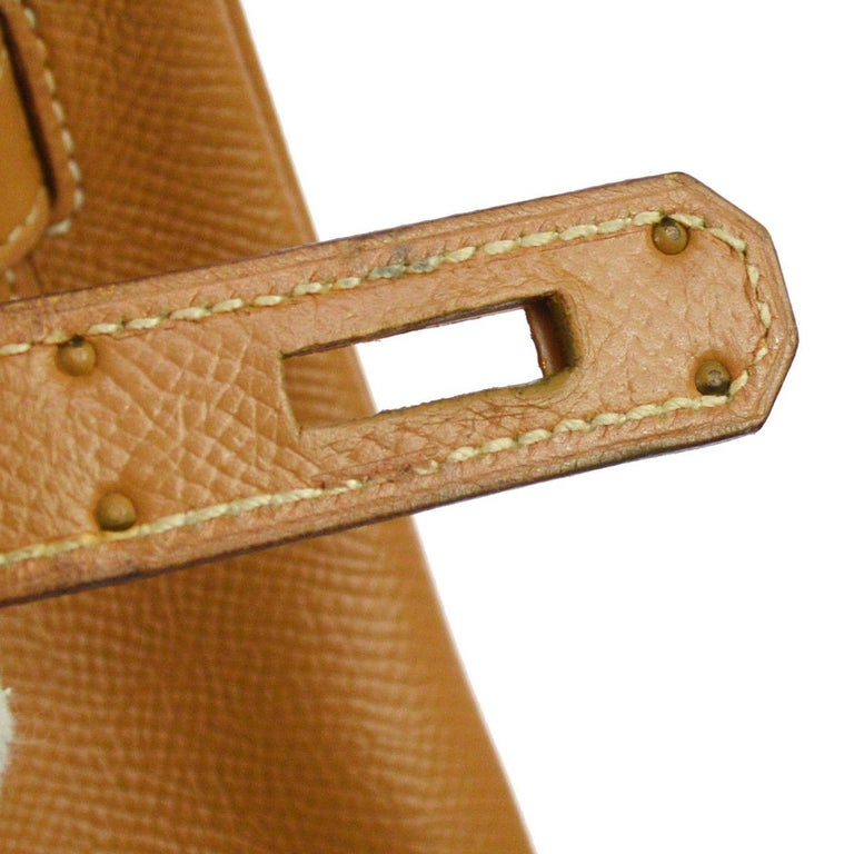 6adf306df578 Hermes Birkin 35 Cognac Leather Top Handle Satchel Carryall Bag W ...
