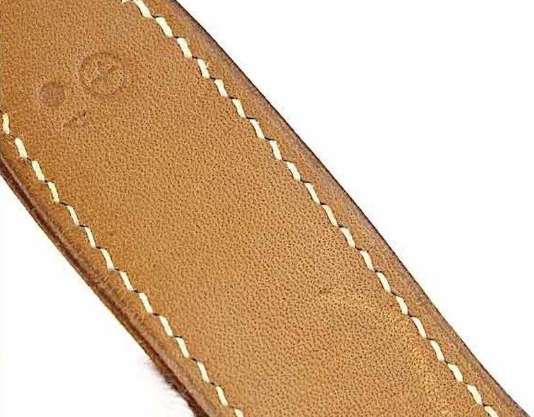 Hermes Tan Canvas Cognac Leather Top Handle Satchel Carryall Shoulder Bag For Sale 4