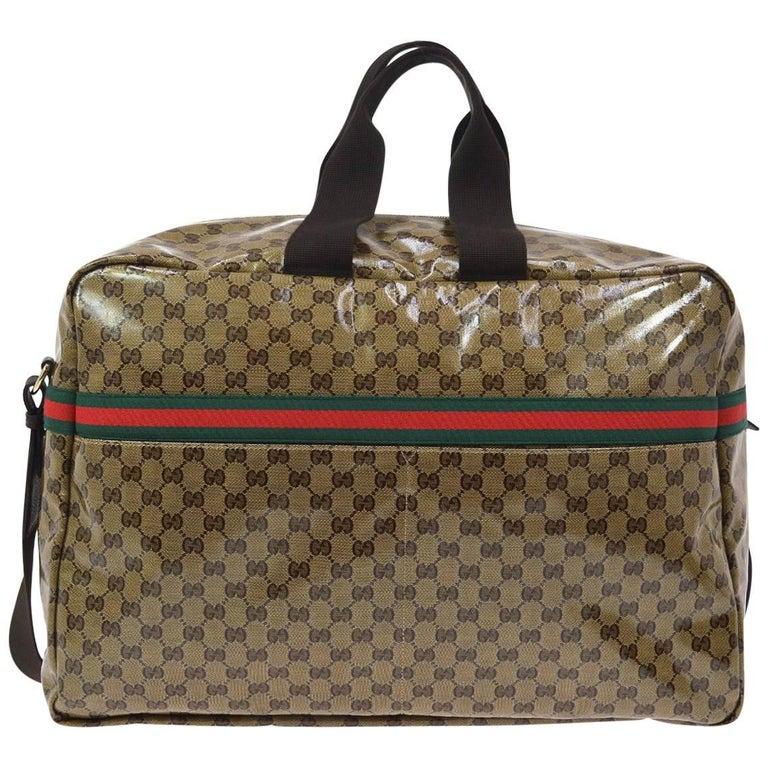 a90645b06bd0 Gucci Monogram Men's Women's Travel Duffle Carryall Weekender Shoulder Tote  Bag ...