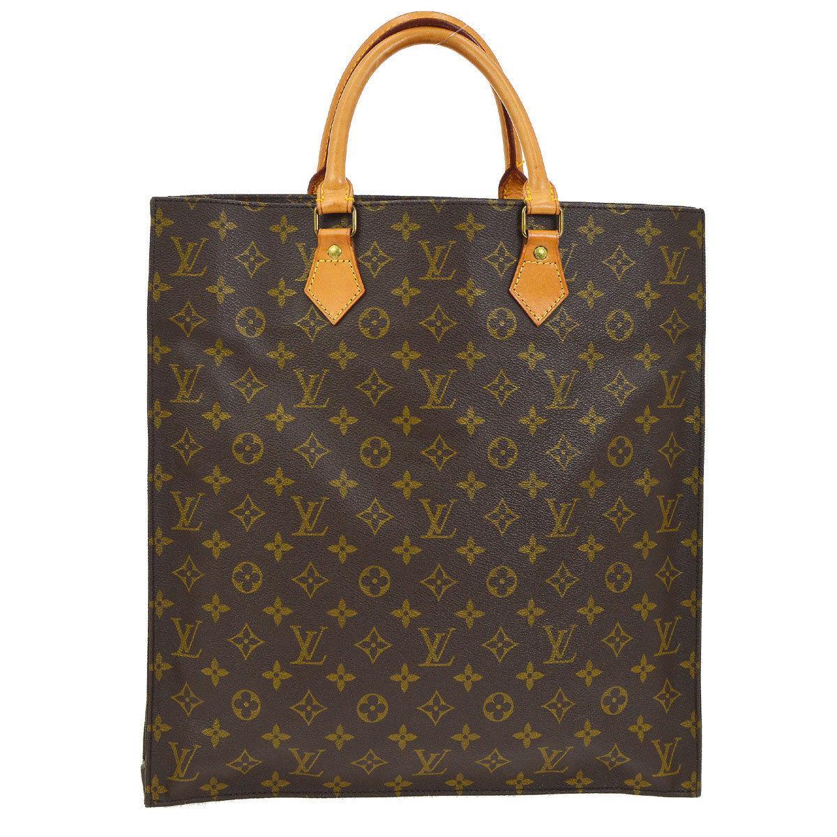 Lous Vuitton Monogram Canvas Men's Women's Carryall Travel Top Handle Tote Bag