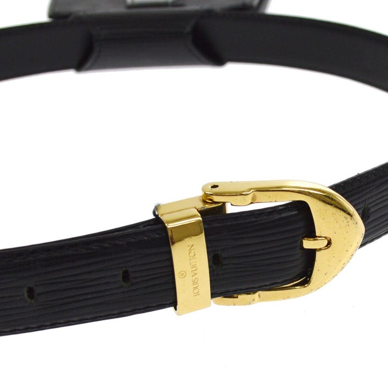 Louis Vuitton Black Leather Men's Women's Fanny Pack Waist Bag For Sale 2