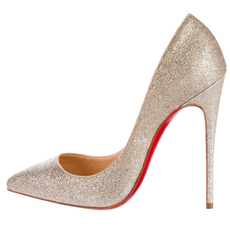 94c2c2371ad Christian Louboutin NEW Glitter Leather Evening Pigalle Heels Pumps For Sale