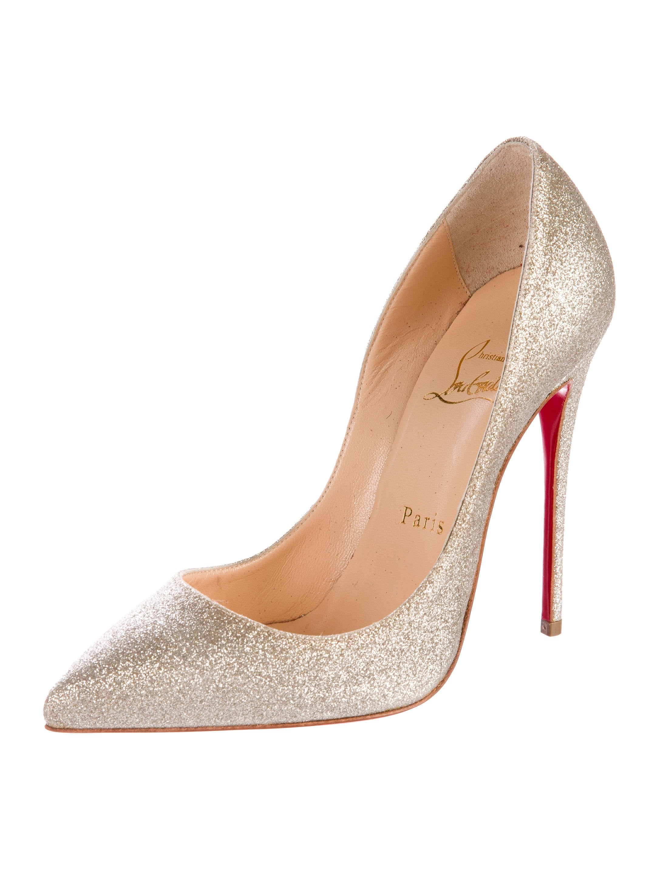 5f0a2539205 Christian Louboutin NEW Glitter Leather Evening Pigalle Heels Pumps For Sale  at 1stdibs