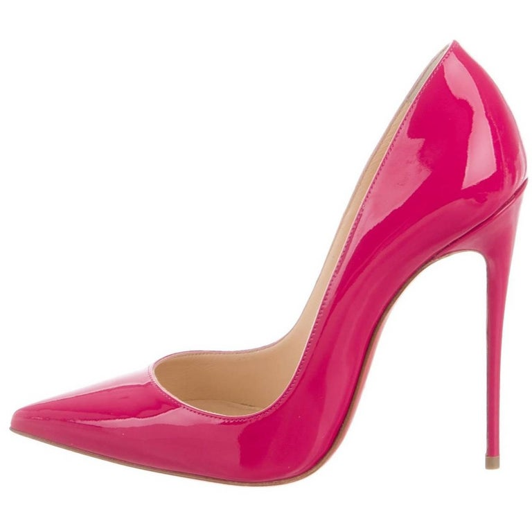 f03f23f2826 Christian Louboutin NEW Fuchsia Patent Leather Pigalle High Heels Pumps For  Sale