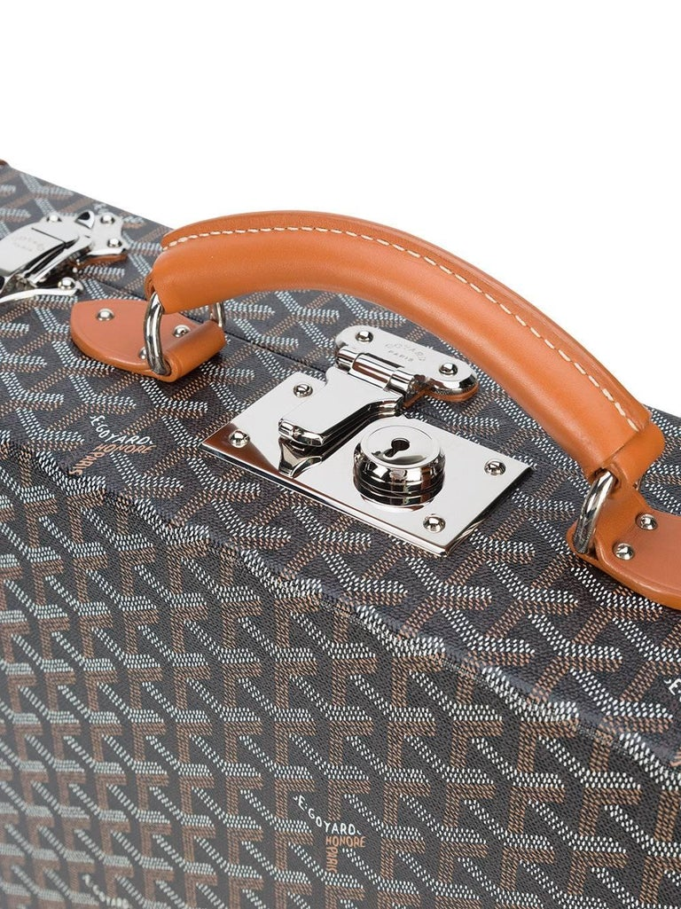 Black Goyard NEW Monogram Cognac Men's Women's Business Travel Brief Case Briefcase For Sale