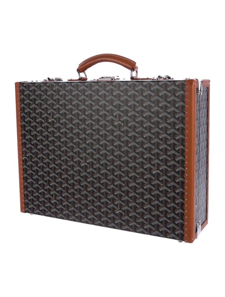Goyard NEW Monogram Cognac Men's Women's Business Travel Brief Case Briefcase In New Condition For Sale In Chicago, IL
