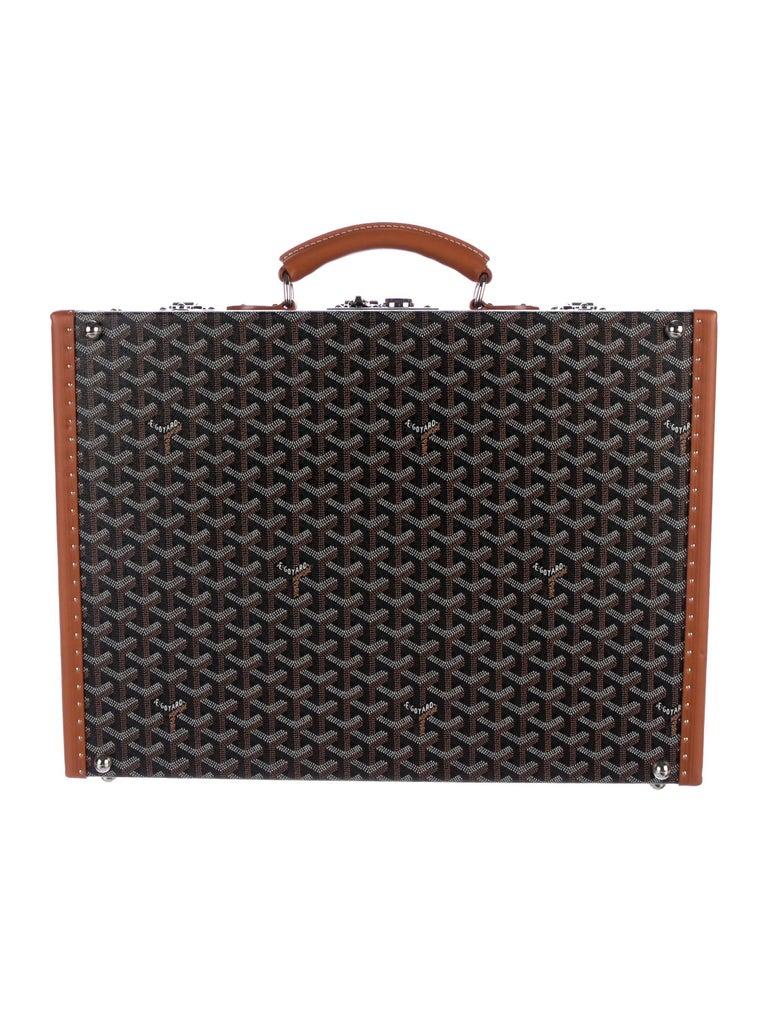 Women's or Men's Goyard NEW Monogram Cognac Men's Women's Business Travel Brief Case Briefcase For Sale