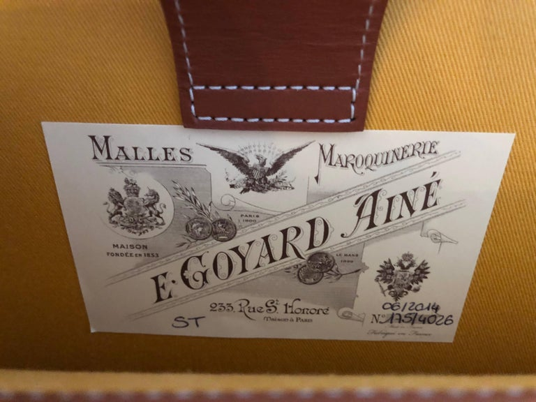Goyard NEW Monogram Cognac Men's Women's Business Travel Brief Case Briefcase For Sale 2