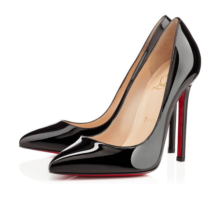 d24c5c2c50fe Christian Louboutin NEW Pigalle 120 Black Patent Leather High Heels Pumps  in Box In New Condition