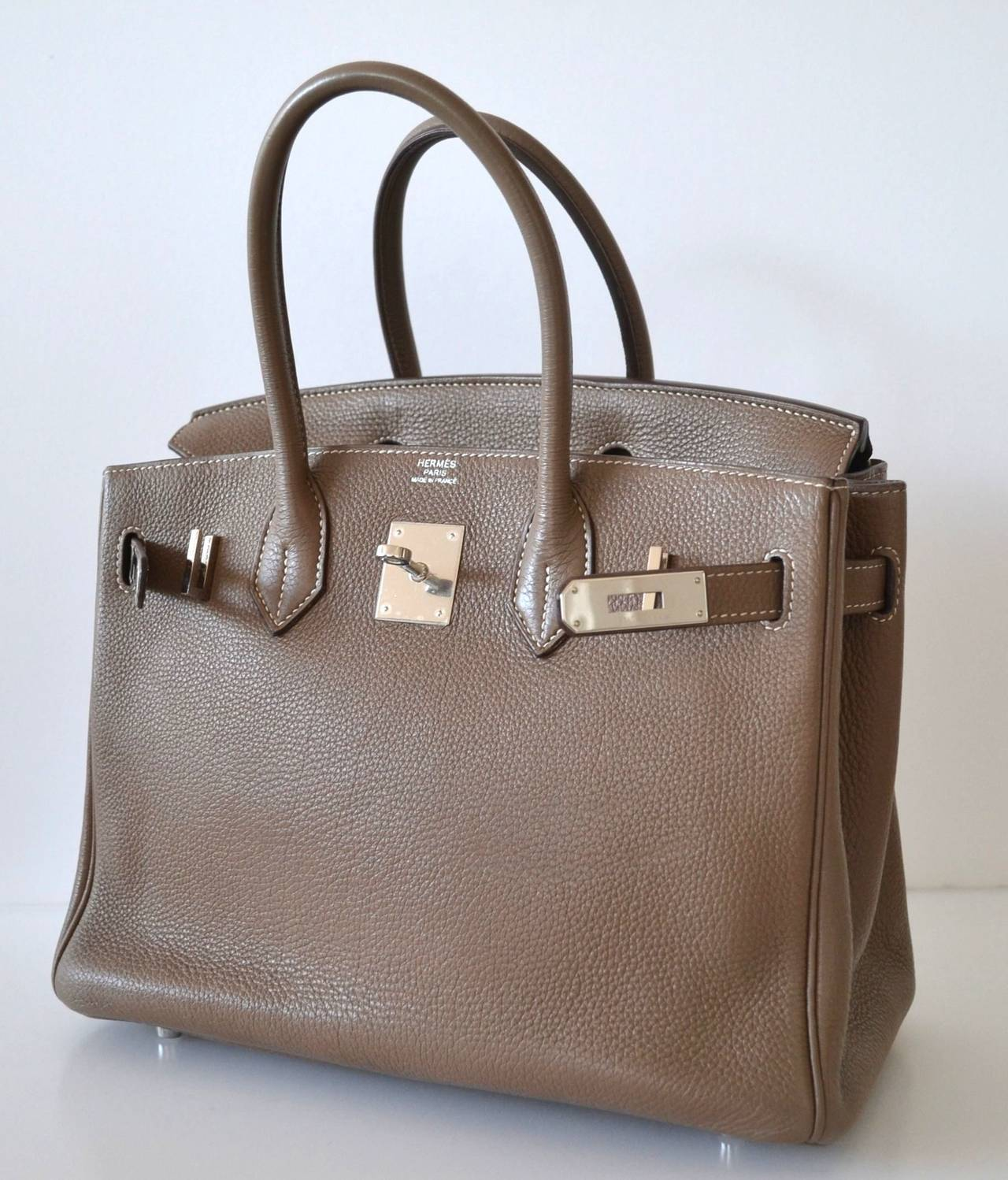 authentic hermes bag - Hermes Birkin 30 Togo Etoupe at 1stdibs