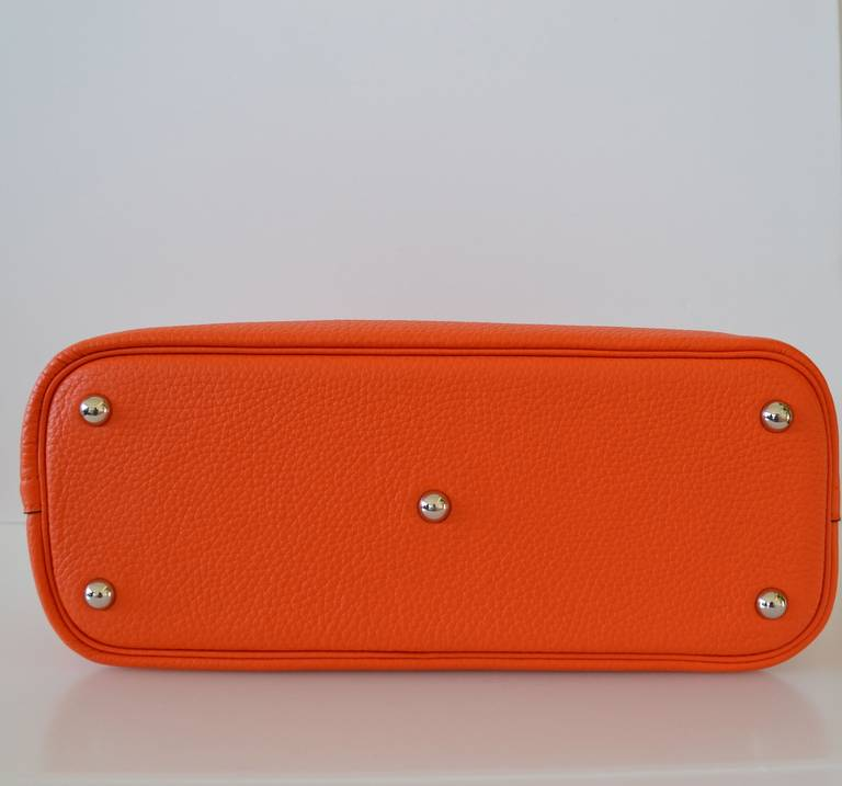 black hermes bag - Hermes Bolide 31 Taurillon Clemence-Orange at 1stdibs