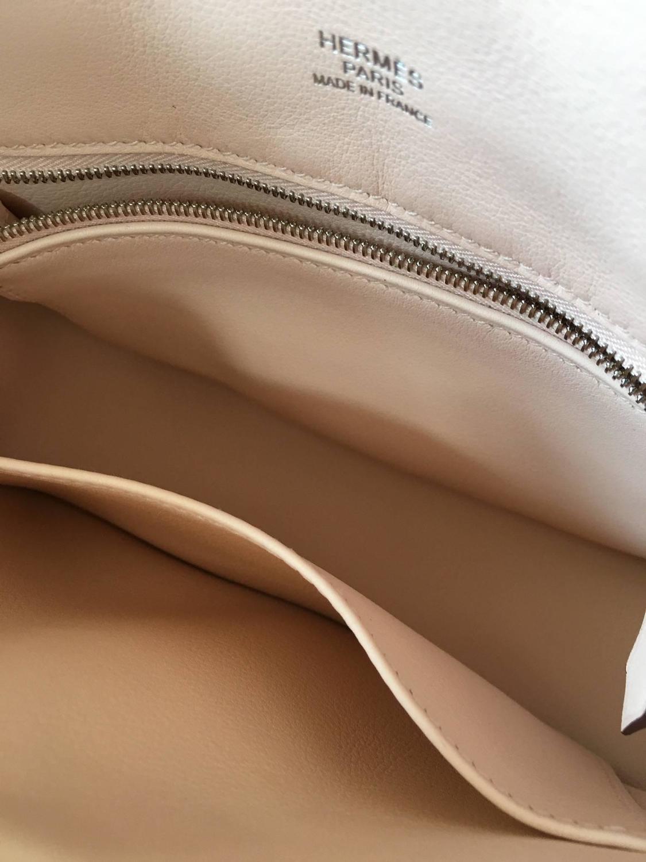 Hermes handbag Mini Berline Swift Rose Sakura For Sale at 1stdibs