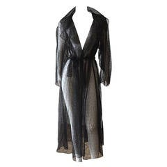 "1990s Rare Alaia Black Lace Evening ""Trench"""
