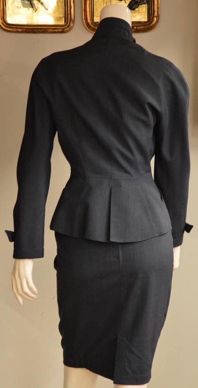 Iconic 1980s Thierry Mugler Night Blue 2 Pieces Suit 5