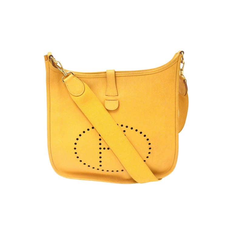 Hermes Evelyne GM sunny-yellow Ardenes leather GHW shoulder bag, 1998