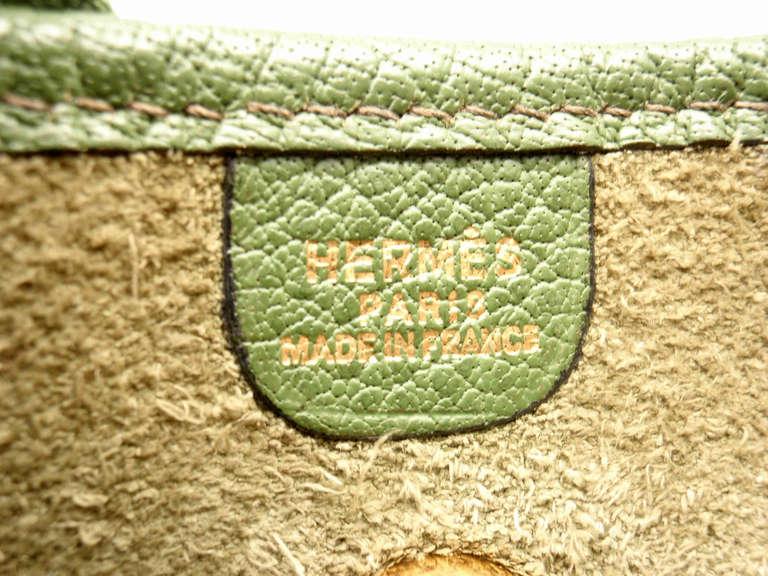 Hermes Vespa MM Vert Anis Clemence leather GWH shoulder bag, 2000 8