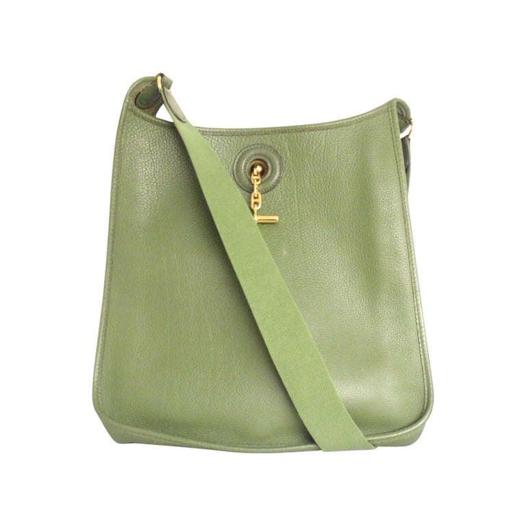 Hermes Vespa MM Vert Anis Clemence leather GWH shoulder bag, 2000 1