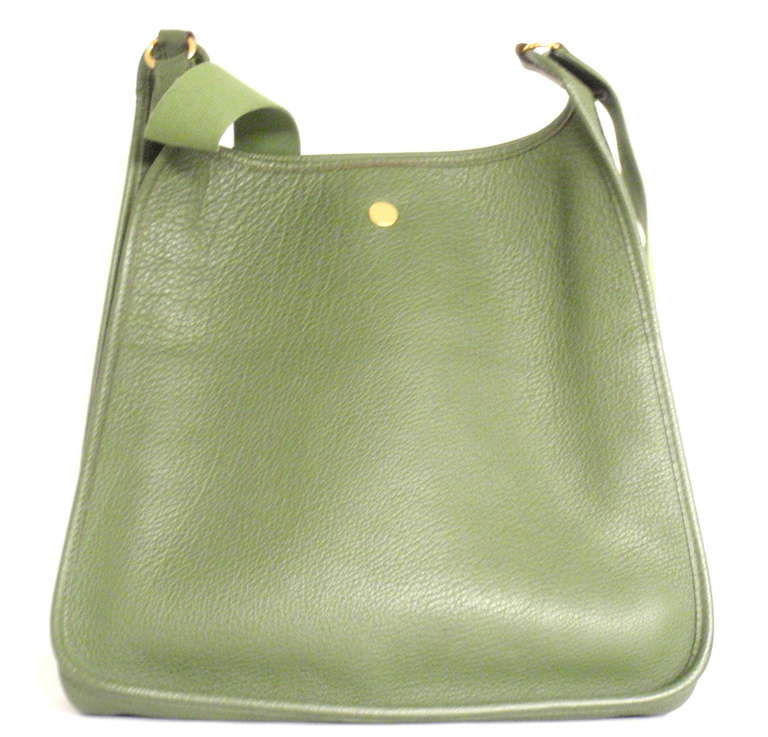 Hermes Vespa MM Vert Anis Clemence leather GWH shoulder bag, 2000 2