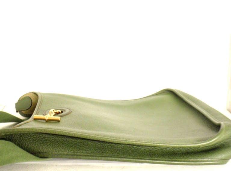 Hermes Vespa MM Vert Anis Clemence leather GWH shoulder bag, 2000 3
