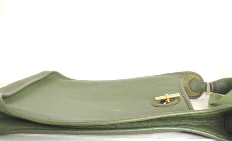 Hermes Vespa MM Vert Anis Clemence leather GWH shoulder bag, 2000 4