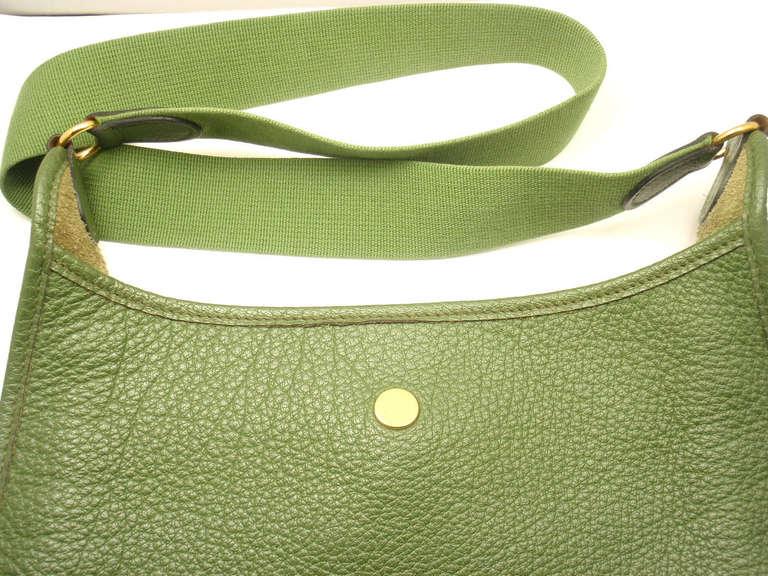 Hermes Vespa MM Vert Anis Clemence leather GWH shoulder bag, 2000 5