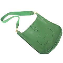Hermes Evelyne GM Vert Bengale EPSOM leather GHW Shoulder bag, 1996