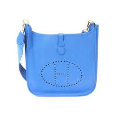 Hermes Evelyne GM electric blue Epsom leather GHW shoulder bag, 2000