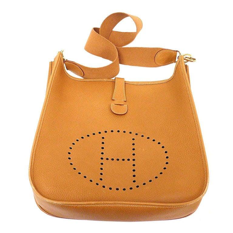 Hermes Evelyne GM gold Clemence leather GHW shoulder bag, 1997