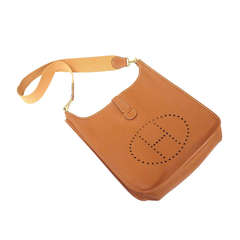 Hermes Evelyne GM natural tan Epsom leather shoulder bag, 1995