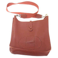 Hermes Evelyne PM burgundy wine leather SHW shoulder bag, 2001