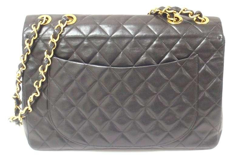 CHANEL XL Jumbo Maxi 2.55 34CM Flap Lambskin Handbag image 2